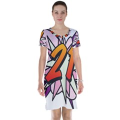 Comic Book 21 Pink  Short Sleeve Nightdresses