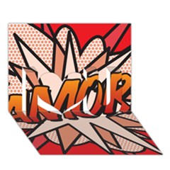 Comic Book Amor!  I Love You 3d Greeting Card (7x5)