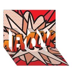 Comic Book Amor!  BOY 3D Greeting Card (7x5)