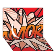 Comic Book Amor!  Circle 3d Greeting Card (7x5)