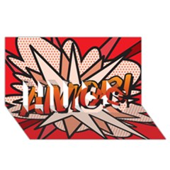Comic Book Amor!  Hugs 3d Greeting Card (8x4)