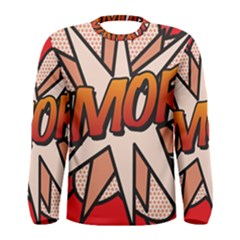 Comic Book Amor!  Men s Long Sleeve T Shirts