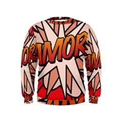 Comic Book Amor!  Boys  Sweatshirts