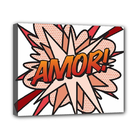 Comic Book Amor! Canvas 10  x 8