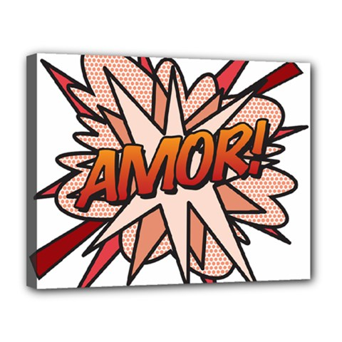 Comic Book Amor! Canvas 14  x 11