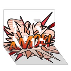 Comic Book Amor! Love 3d Greeting Card (7x5)