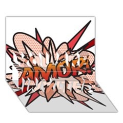 Comic Book Amor! YOU ARE INVITED 3D Greeting Card (7x5)