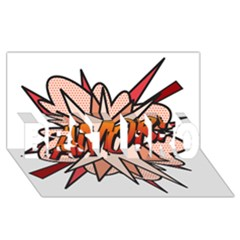Comic Book Amor! Best Bro 3d Greeting Card (8x4)
