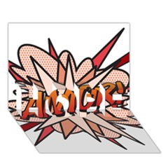 Comic Book Amor! Hope 3d Greeting Card (7x5)