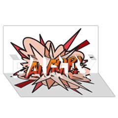 Comic Book Amor! Party 3d Greeting Card (8x4)