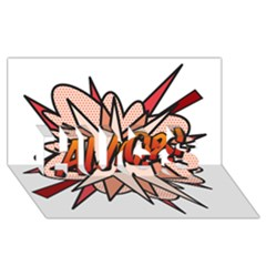 Comic Book Amor! HUGS 3D Greeting Card (8x4)