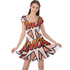 Comic Book Amor! Cap Sleeve Dresses