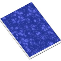 Snow Stars Blue Large Memo Pads