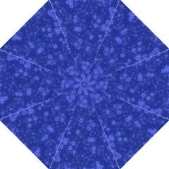 Snow Stars Blue Hook Handle Umbrellas (medium)