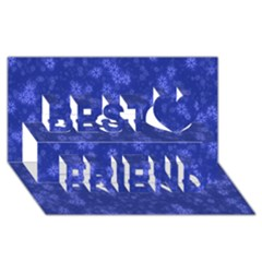 Snow Stars Blue Best Friends 3d Greeting Card (8x4)