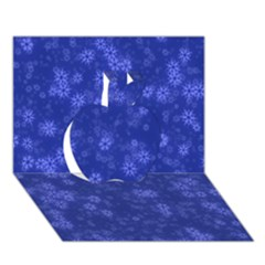 Snow Stars Blue Apple 3D Greeting Card (7x5)