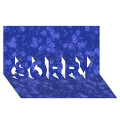 Snow Stars Blue SORRY 3D Greeting Card (8x4)