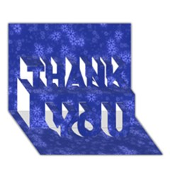 Snow Stars Blue THANK YOU 3D Greeting Card (7x5)