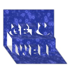 Snow Stars Blue Get Well 3d Greeting Card (7x5)