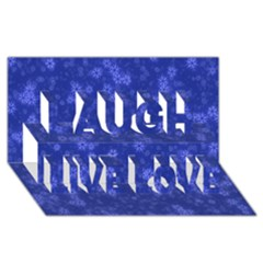 Snow Stars Blue Laugh Live Love 3d Greeting Card (8x4)