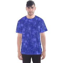 Snow Stars Blue Men s Sport Mesh Tees