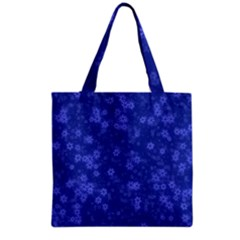 Snow Stars Blue Grocery Tote Bags