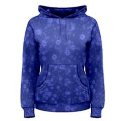 Snow Stars Blue Women s Pullover Hoodies