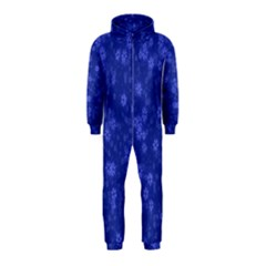Snow Stars Blue Hooded Jumpsuit (kids)
