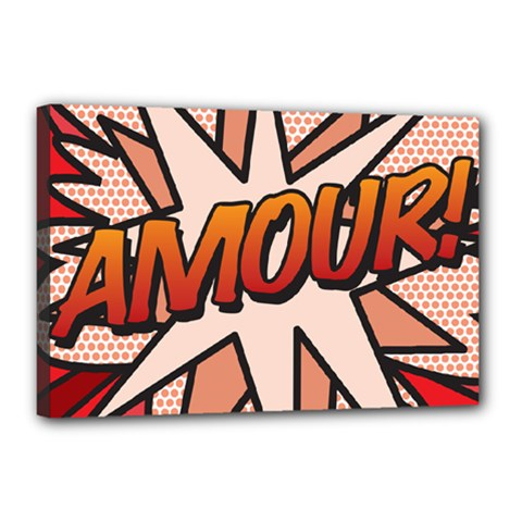 Comic Book Amour!  Canvas 18  x 12