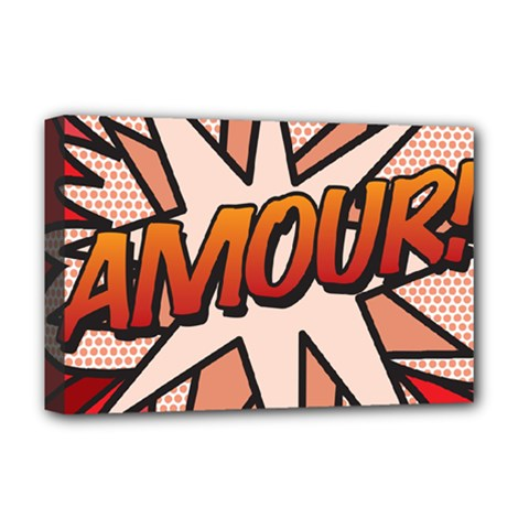 Comic Book Amour!  Deluxe Canvas 18  x 12