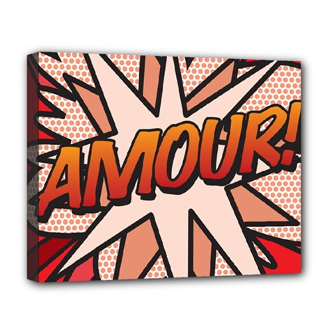 Comic Book Amour!  Deluxe Canvas 20  x 16