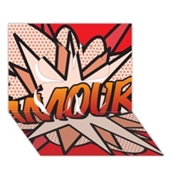 Comic Book Amour!  Clover 3D Greeting Card (7x5)