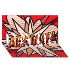 Comic Book Amour!  BEST SIS 3D Greeting Card (8x4)