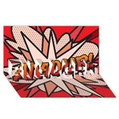 Comic Book Amour!  ENGAGED 3D Greeting Card (8x4)