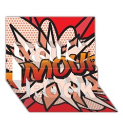 Comic Book Amour!  You Rock 3D Greeting Card (7x5)