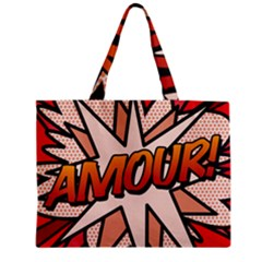 Comic Book Amour!  Zipper Tiny Tote Bags