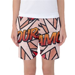Comic Book Amour!  Women s Basketball Shorts