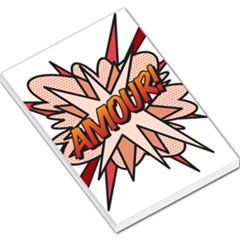 Comic Book Amour! Large Memo Pads