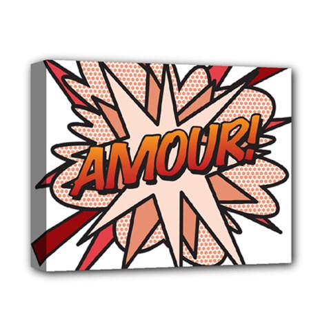 Comic Book Amour! Deluxe Canvas 14  x 11