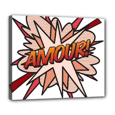 Comic Book Amour! Deluxe Canvas 24  x 20