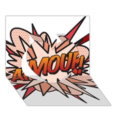Comic Book Amour! Heart 3D Greeting Card (7x5)