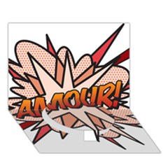 Comic Book Amour! Circle Bottom 3D Greeting Card (7x5)