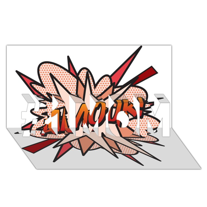 Comic Book Amour! #1 MOM 3D Greeting Cards (8x4)