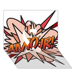Comic Book Amour! Ribbon 3D Greeting Card (7x5)
