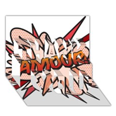 Comic Book Amour! THANK YOU 3D Greeting Card (7x5)