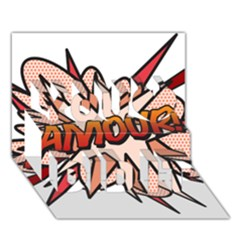 Comic Book Amour! You Did It 3d Greeting Card (7x5)