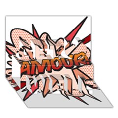 Comic Book Amour! Get Well 3D Greeting Card (7x5)