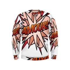 Comic Book Amour! Boys  Sweatshirts