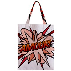 Comic Book Amour! Zipper Classic Tote Bags