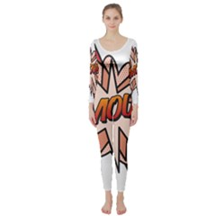 Comic Book Amour! Long Sleeve Catsuit